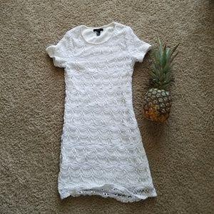 Classic White Lace Dress